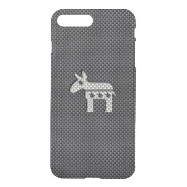 Carbon Fiber Donkey Democratic Party Symbol iPhone 8 Plus/7 Plus Case