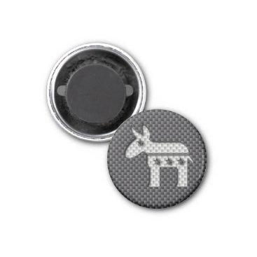 Beach Themed Carbon Fiber Donkey Democratic Party Symbol Magnet