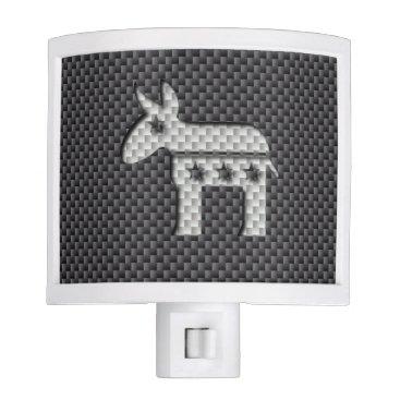 Beach Themed Carbon Fiber Donkey Democratic Party Symbol Night Light