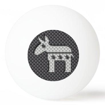 Beach Themed Carbon Fiber Donkey Democratic Party Symbol Ping Pong Ball