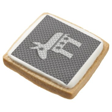 Beach Themed Carbon Fiber Donkey Democratic Party Symbol Square Shortbread Cookie