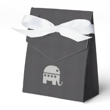 Beach Themed Carbon Fiber Elephant Republican Party Symbol Favor Box