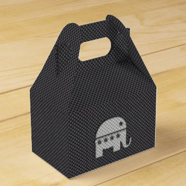 Halloween Themed Carbon Fiber Elephant Republican Party Symbol Favor Box