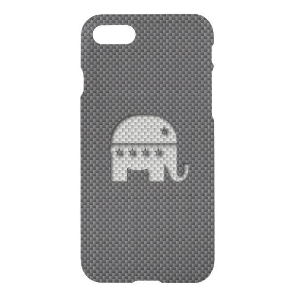 Carbon Fiber Elephant Republican Party Symbol iPhone 7 Case