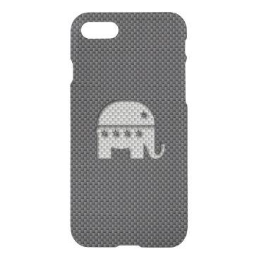 Halloween Themed Carbon Fiber Elephant Republican Party Symbol iPhone 8/7 Case