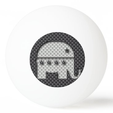 Beach Themed Carbon Fiber Elephant Republican Party Symbol Ping Pong Ball