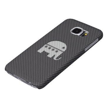 Beach Themed Carbon Fiber Elephant Republican Party Symbol Samsung Galaxy S6 Case