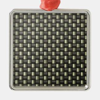 Carbon Fiber (Faux) Metal Ornament