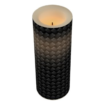 USA Themed Carbon fiber flameless candle