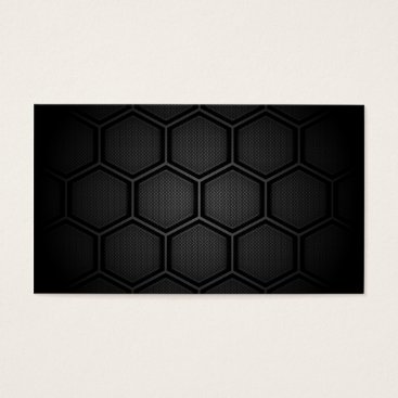 Aztec Themed Carbon Fiber Hex Tiles Business Card