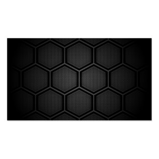 Carbon Fiber Hex Tiles Double-Sided Standard Business Cards (Pack Of 100)
