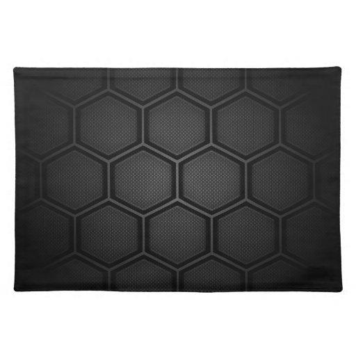 Carbon Fiber Hex Tiles Place Mat