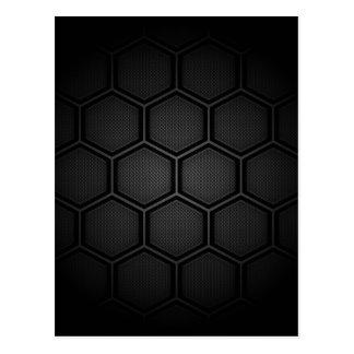 Carbon Fiber Hex Tiles Postcard