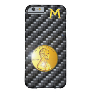 Carbon Fiber In Gold We Trust Template, Popular Barely There iPhone 6 Case