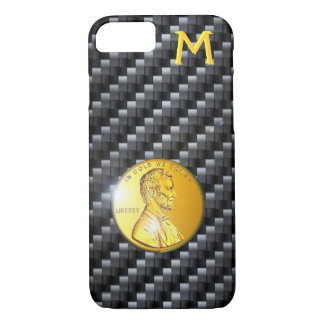 Carbon Fiber In Gold We Trust Template, Popular iPhone 8/7 Case
