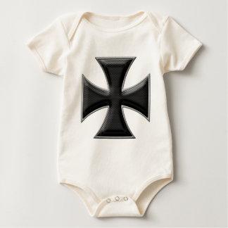 Carbon Fiber Iron Cross - Black Baby Bodysuit
