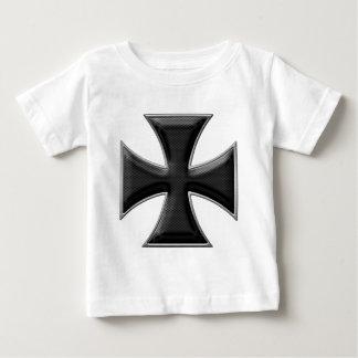 Carbon Fiber Iron Cross - Black Baby T-Shirt