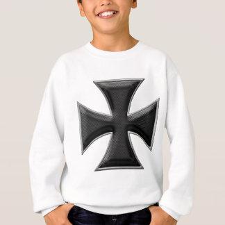 Carbon Fiber Iron Cross - Black Sweatshirt
