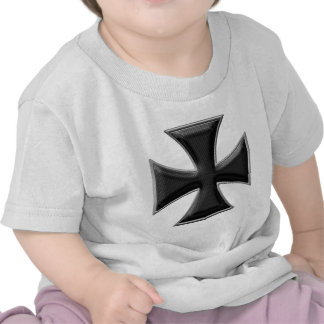 Carbon Fiber Iron Cross - Black T Shirt