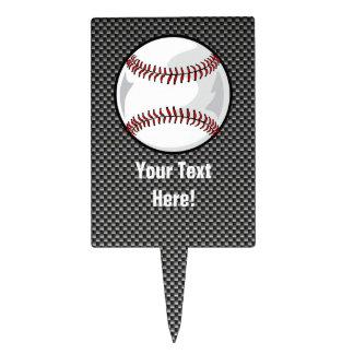 Carbon Fiber look Baseball Cake Topper