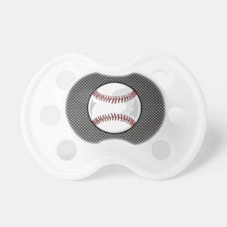 Carbon Fiber look Baseball Pacifier