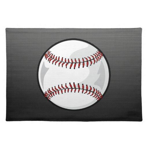 Carbon Fiber look Baseball Placemat