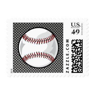 Carbon Fiber look Baseball Postage Stamps