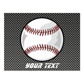 Carbon Fiber look Baseball Postcard