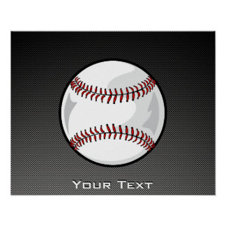 Carbon Fiber look Baseball Poster