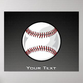 Carbon Fiber look Baseball Posters