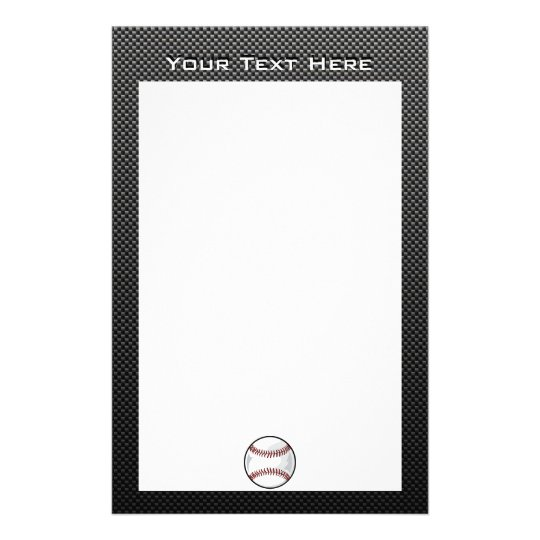 Carbon Fiber look Baseball Stationery