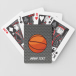 Carbon Fiber look Basketball Bicycle Playing Cards