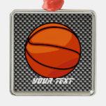 Carbon Fiber look Basketball Christmas Ornaments