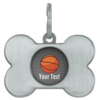 Carbon Fiber look Basketball Pet ID Tags