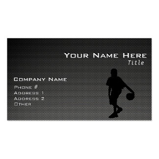 Carbon Fiber look Basketball Player Double-Sided Standard Business Cards (Pack Of 100)