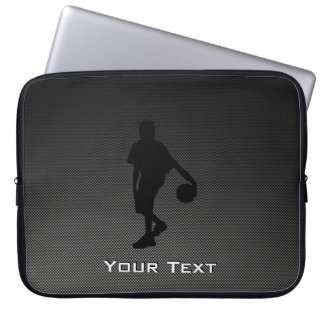 Carbon Fiber look Basketball Player Laptop Sleeves