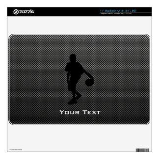 Carbon Fiber look Basketball Player MacBook Decals