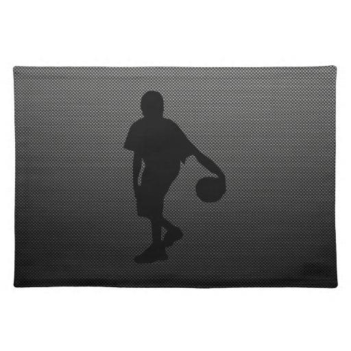 Carbon Fiber look Basketball Player Placemat