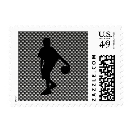 Carbon Fiber look Basketball Player Postage