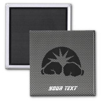 Carbon Fiber look Boxing Gloves 2 Inch Square Magnet