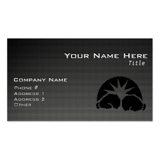 Carbon Fiber look Boxing Gloves Double-Sided Standard Business Cards (Pack Of 100)