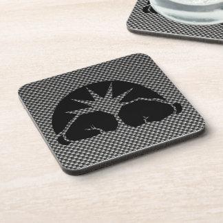 Carbon Fiber look Boxing Gloves Drink Coaster