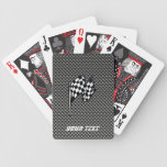 Carbon Fiber look Checkered Flag Bicycle Playing Cards