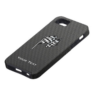 Carbon Fiber look Checkered Flag iPhone 5 Cases