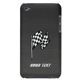 Carbon Fiber look Checkered Flag iPod Case-Mate Case