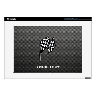 Carbon Fiber look Checkered Flag Laptop Skin