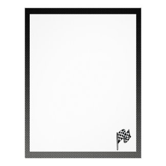 Carbon Fiber look Checkered Flag Letterhead