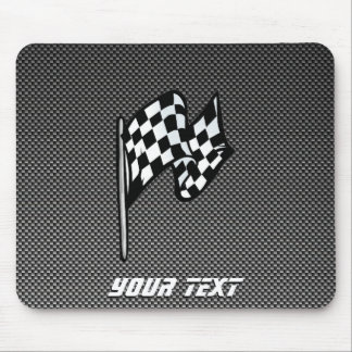 Carbon Fiber look Checkered Flag Mouse Pads