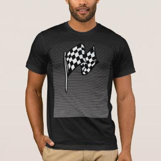 Carbon Fiber look Checkered Flag T-Shirt