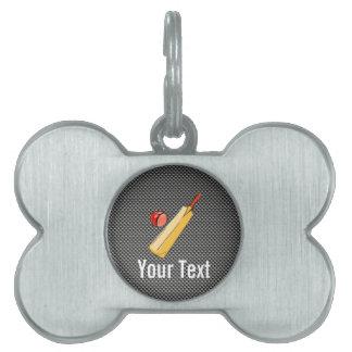Carbon Fiber look Cricket Pet Name Tags